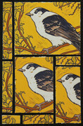 Birds of a Feather II 12X8 Linocut Montage