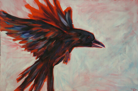 Feathered Friend 24X36 Acrylic